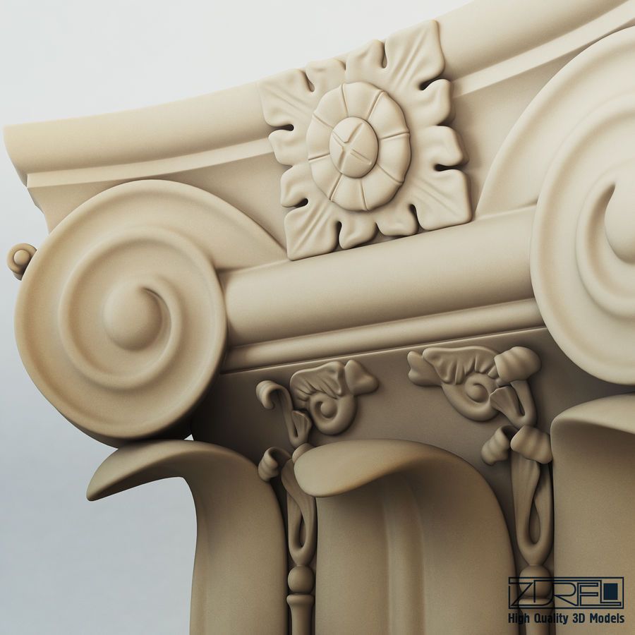 Column capital royalty-free 3d model - Preview no. 7