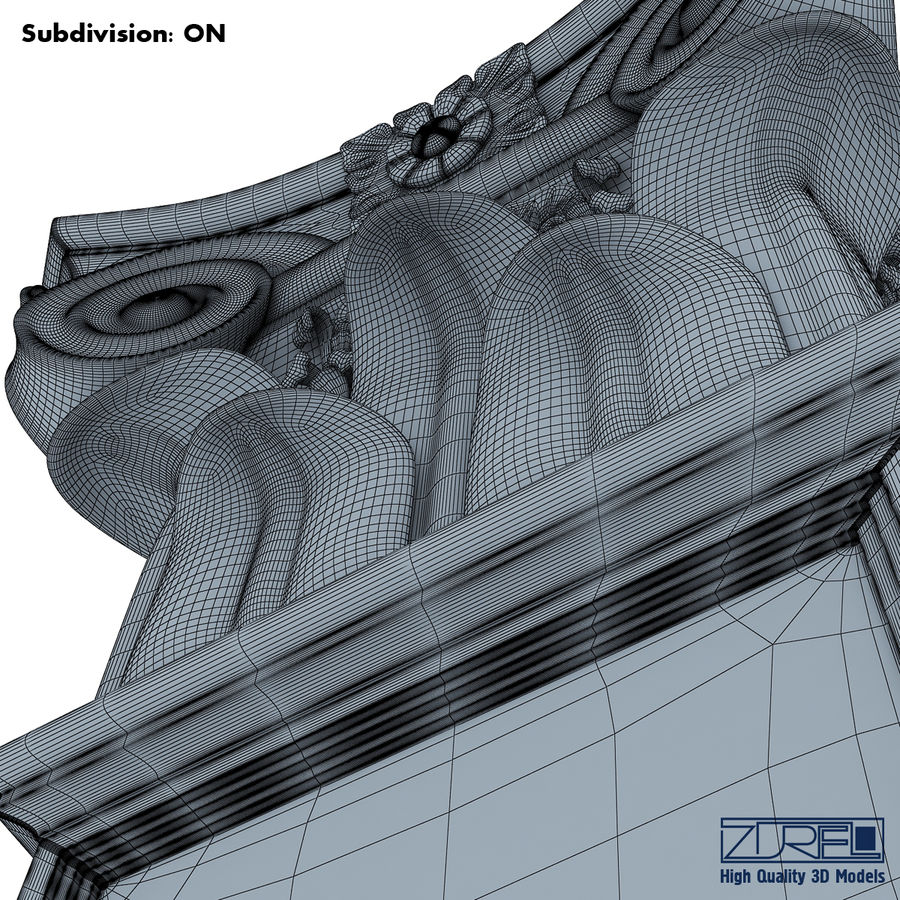 Column capital royalty-free 3d model - Preview no. 18