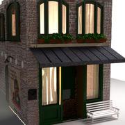 Edificio de ladrillo modelo 3d