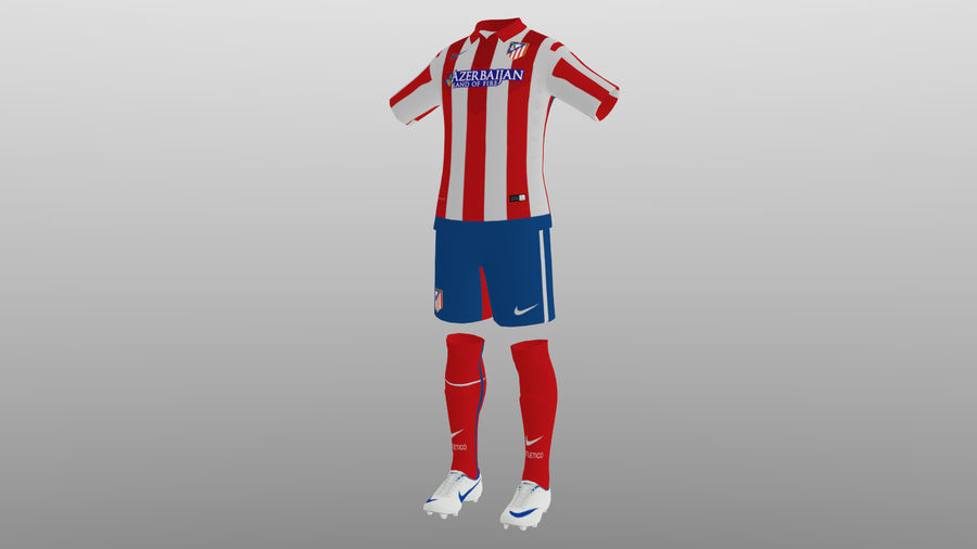Soccer kit, clothes, atletico madrid - shirt shorts shoes 3D Model $19 -  .obj .unknown .fbx .dae .blend .3ds - Free3D