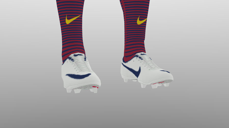 soccer kit, clothes, barcelona - shirt shorts shoes royalty-free 3d model - Preview no. 9