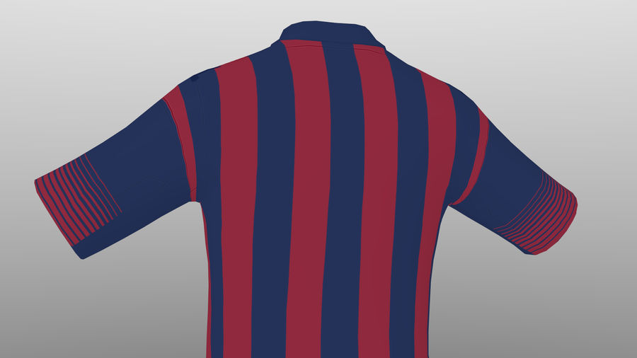 soccer kit, clothes, barcelona - shirt shorts shoes royalty-free 3d model - Preview no. 10