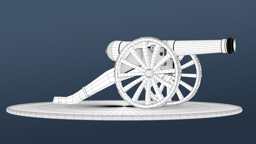 Standard Canon royalty-free 3d model - Preview no. 5