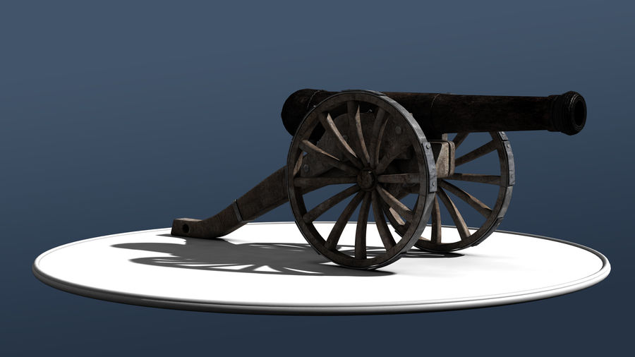 Standard Canon royalty-free 3d model - Preview no. 2