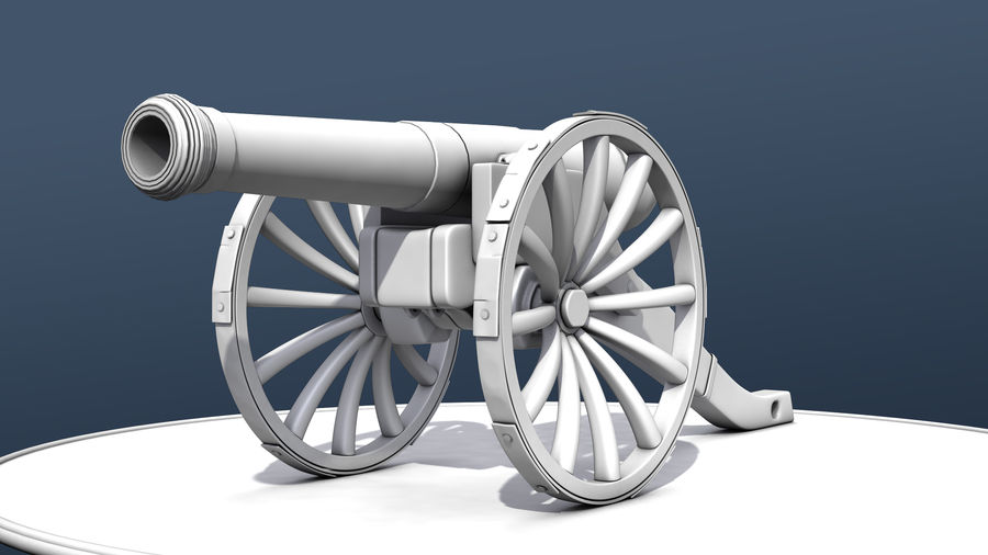 Standard Canon royalty-free 3d model - Preview no. 4