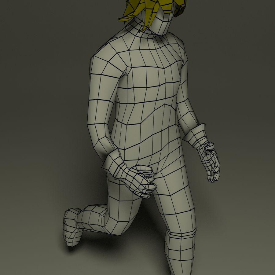 ファンタジー男性キャラクター royalty-free 3d model - Preview no. 1
