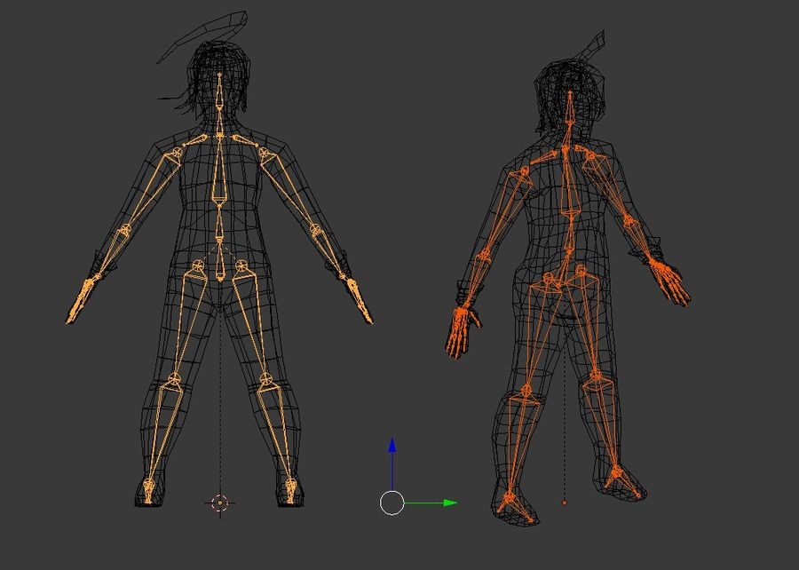 Fantasy male character royalty-free 3d model - Preview no. 7