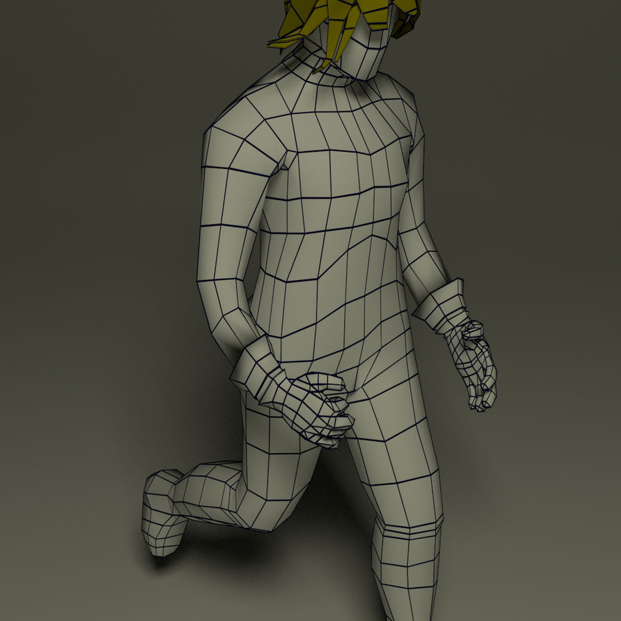 Fantasy male character royalty-free 3d model - Preview no. 1