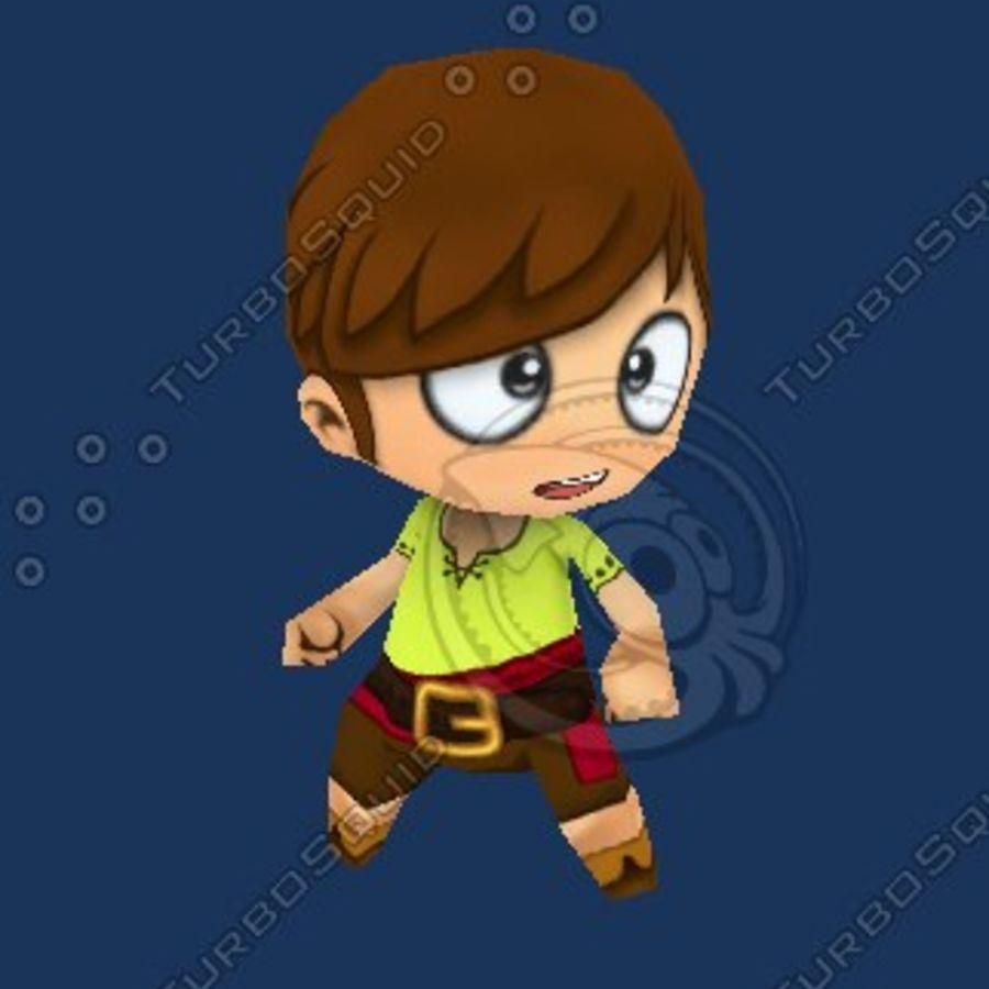 Netter Chibi Charakter royalty-free 3d model - Preview no. 1