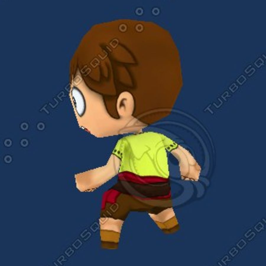 Netter Chibi Charakter royalty-free 3d model - Preview no. 3