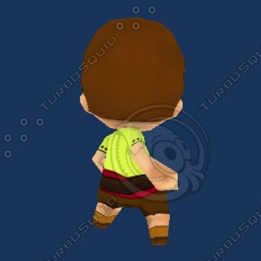 Netter Chibi Charakter royalty-free 3d model - Preview no. 4