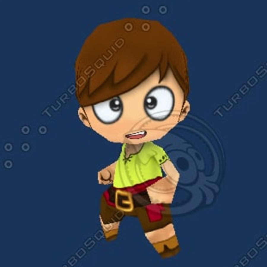 Netter Chibi Charakter royalty-free 3d model - Preview no. 2