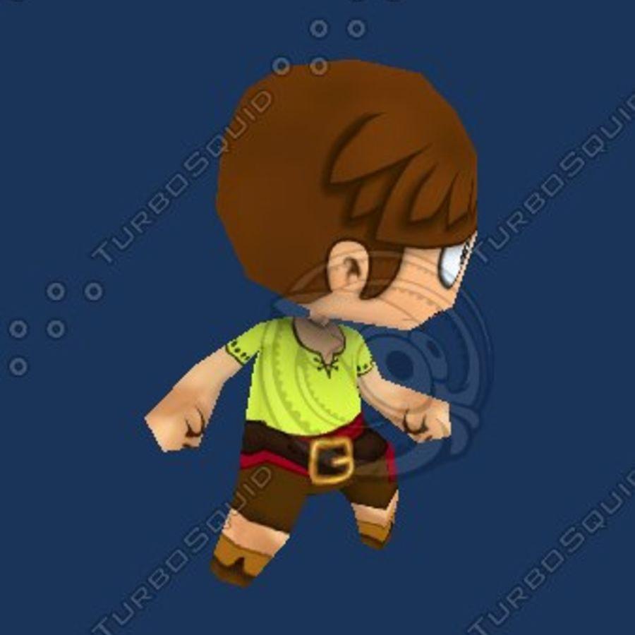 Netter Chibi Charakter royalty-free 3d model - Preview no. 5