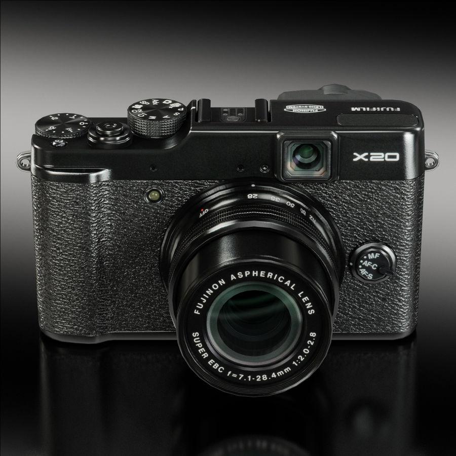 Fujifilm FinePix X20先进的紧凑型数码相机 royalty-free 3d model - Preview no. 2