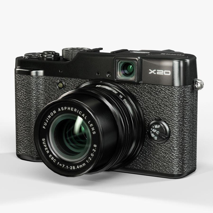 Fujifilm FinePix X20先进的紧凑型数码相机 royalty-free 3d model - Preview no. 3