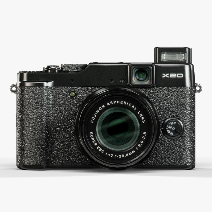 Fujifilm FinePix X20先进的紧凑型数码相机 royalty-free 3d model - Preview no. 6