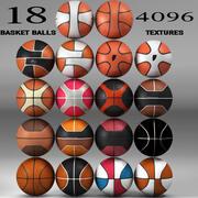 Basketball ball set 3d model