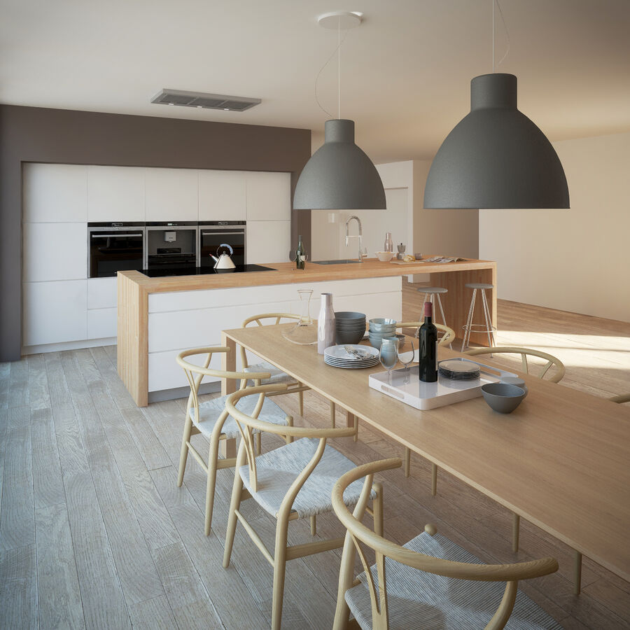 Interior da cozinha 3 royalty-free 3d model - Preview no. 11