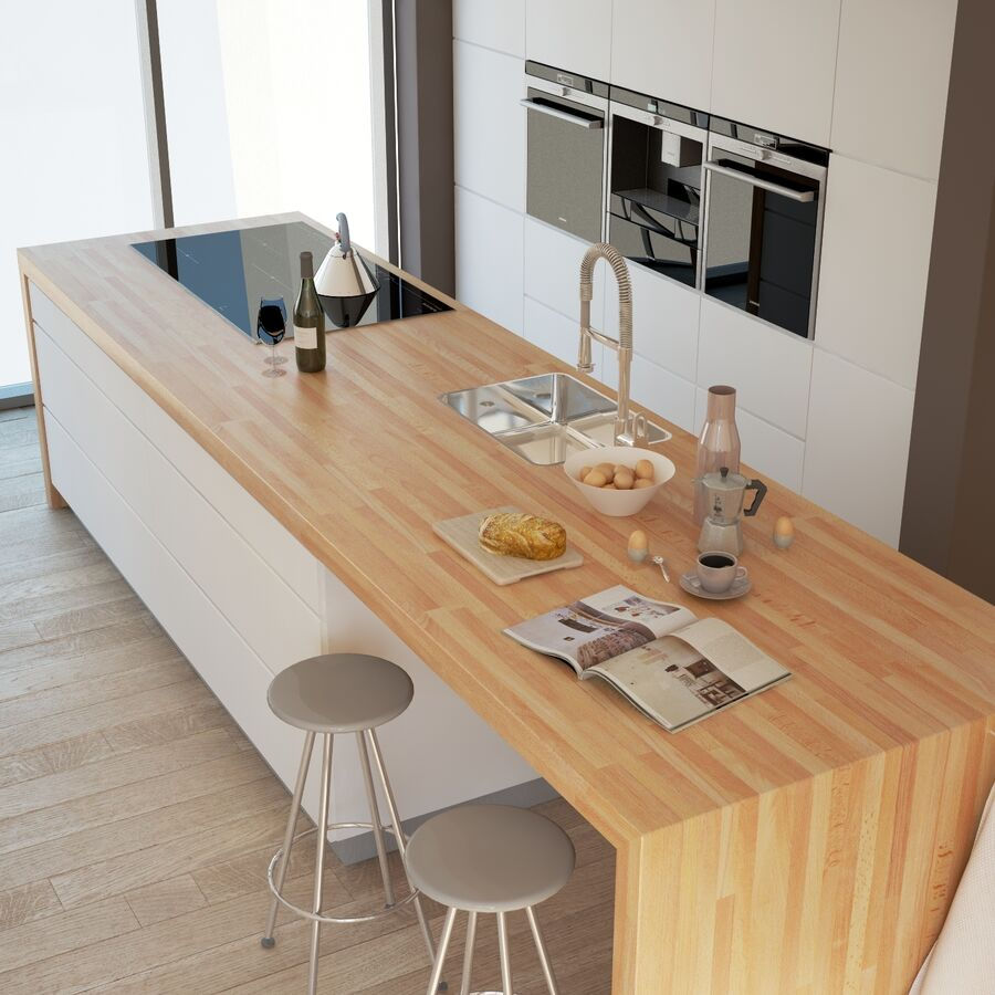 Interior da cozinha 3 royalty-free 3d model - Preview no. 7