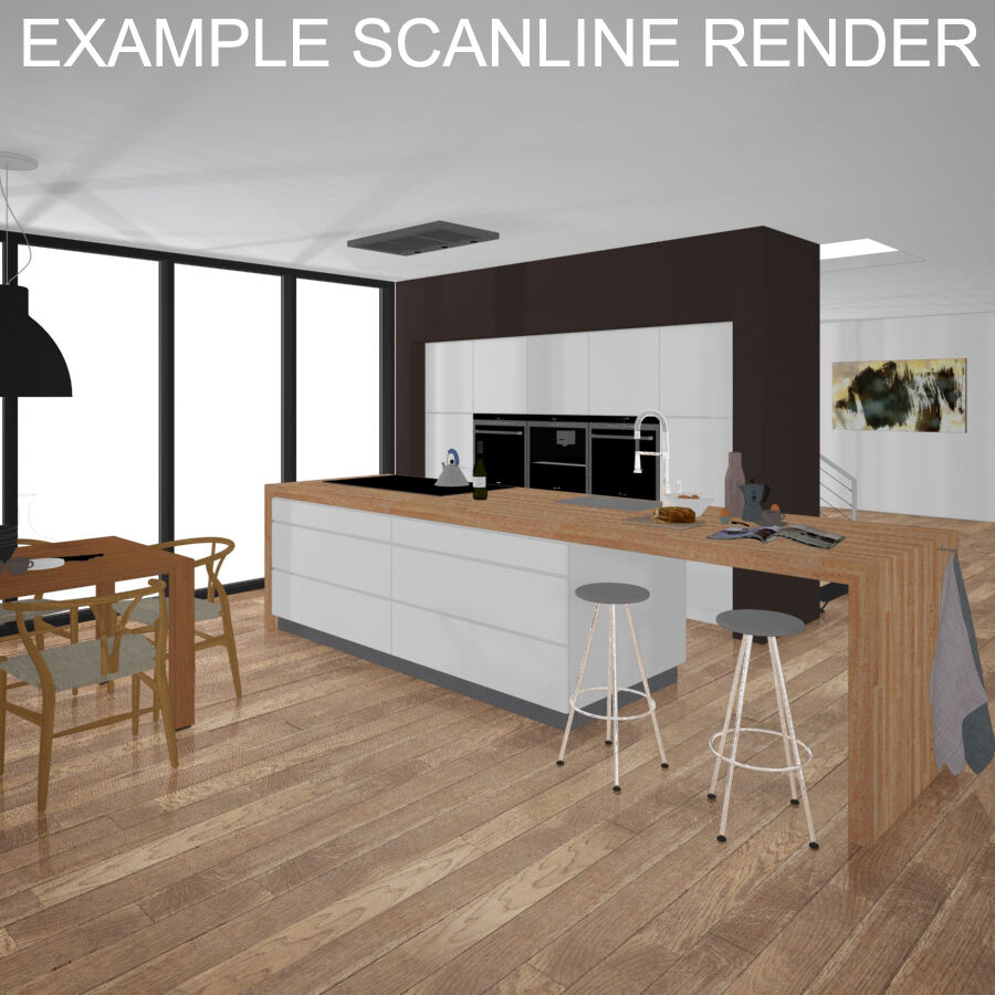Interior da cozinha 3 royalty-free 3d model - Preview no. 18