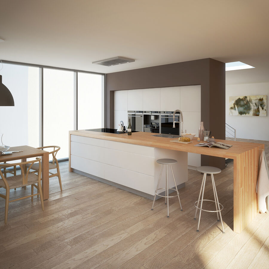 Interior da cozinha 3 royalty-free 3d model - Preview no. 2