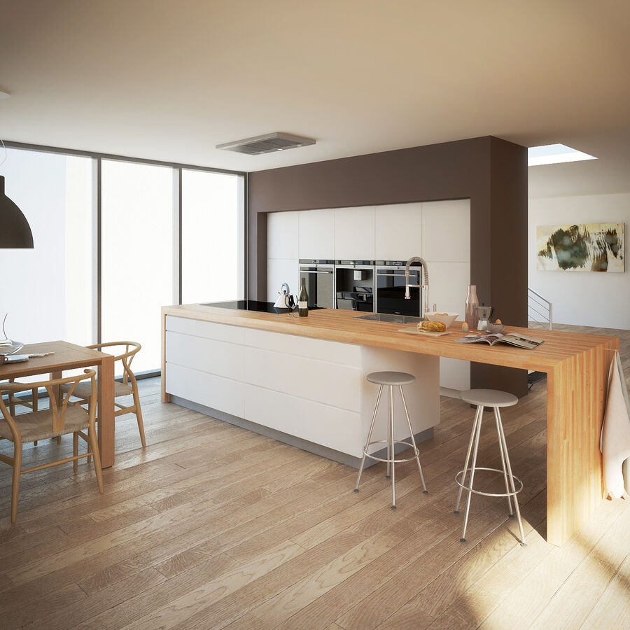 Interior da cozinha 3 royalty-free 3d model - Preview no. 1