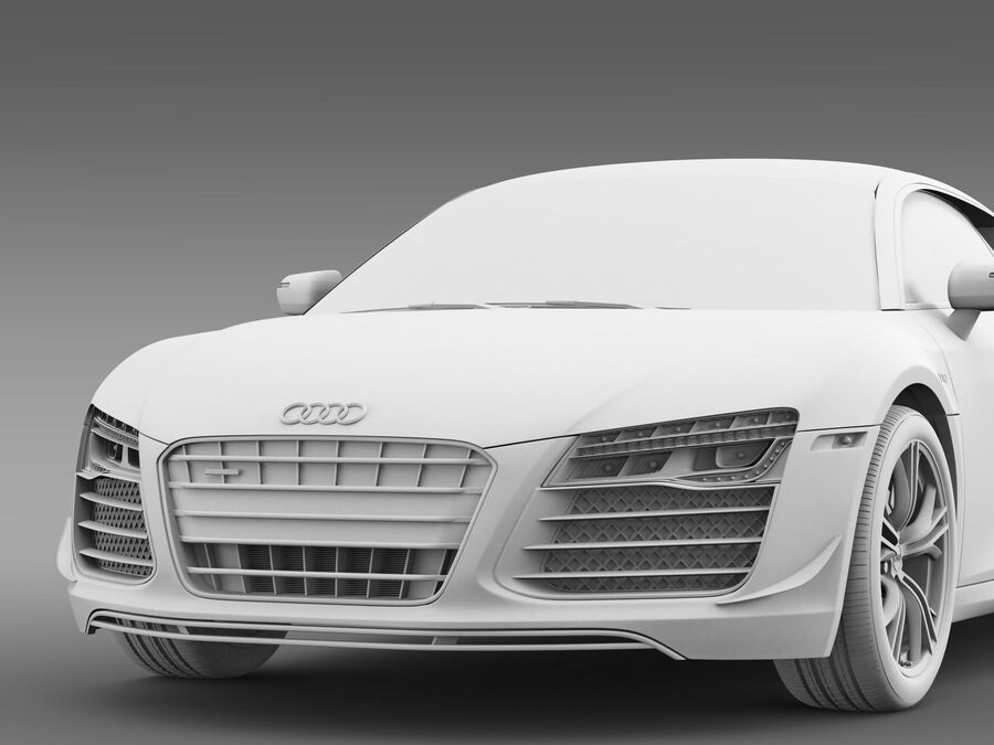 Concorso Audi R8 2015 royalty-free 3d model - Preview no. 15