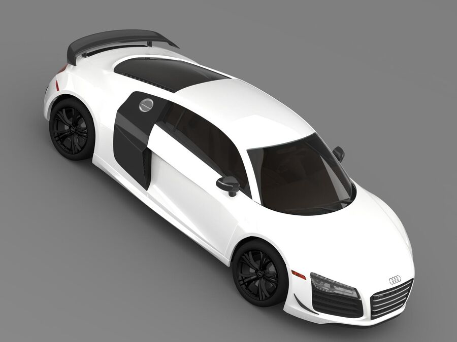 Concorso Audi R8 2015 royalty-free 3d model - Preview no. 12