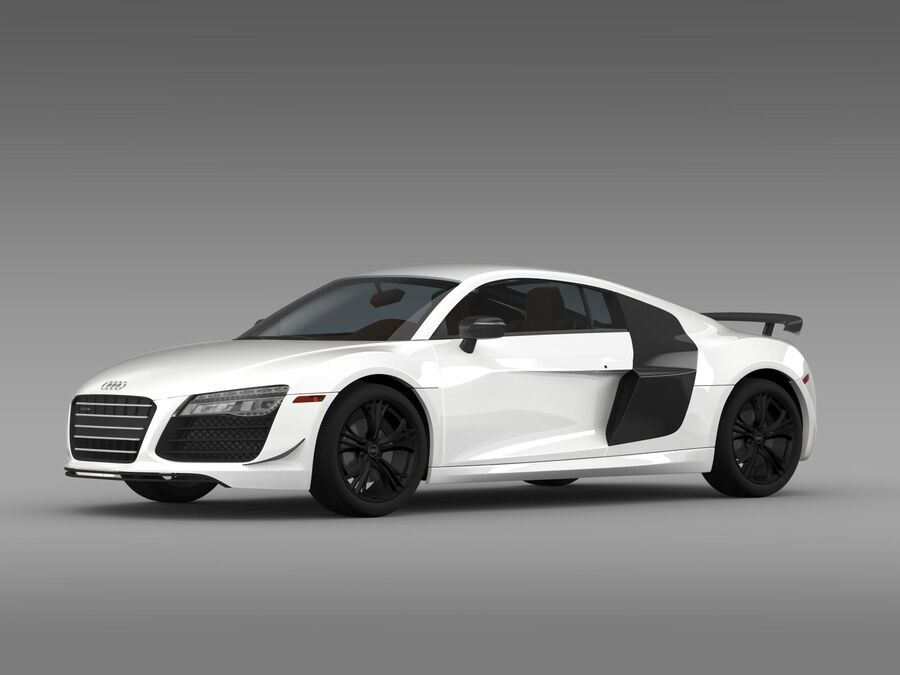 Concorso Audi R8 2015 royalty-free 3d model - Preview no. 5