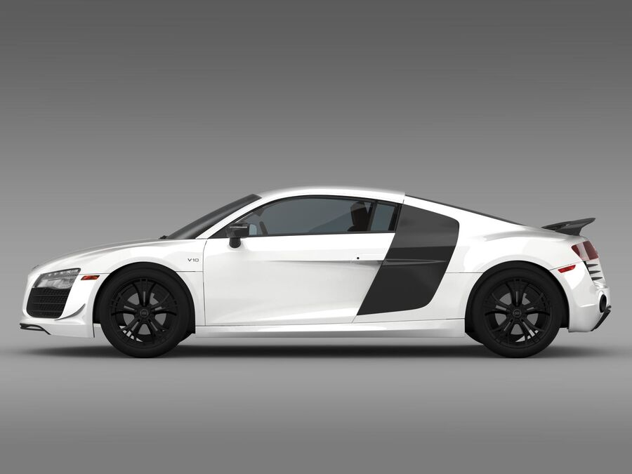 Concorso Audi R8 2015 royalty-free 3d model - Preview no. 6