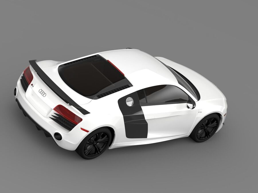Concorso Audi R8 2015 royalty-free 3d model - Preview no. 10