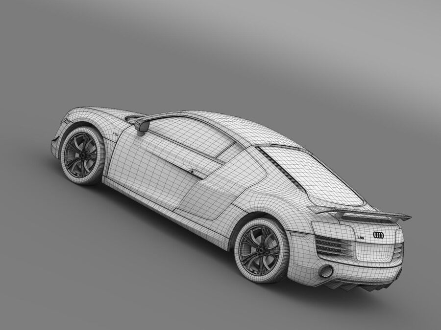 Concorso Audi R8 2015 royalty-free 3d model - Preview no. 19