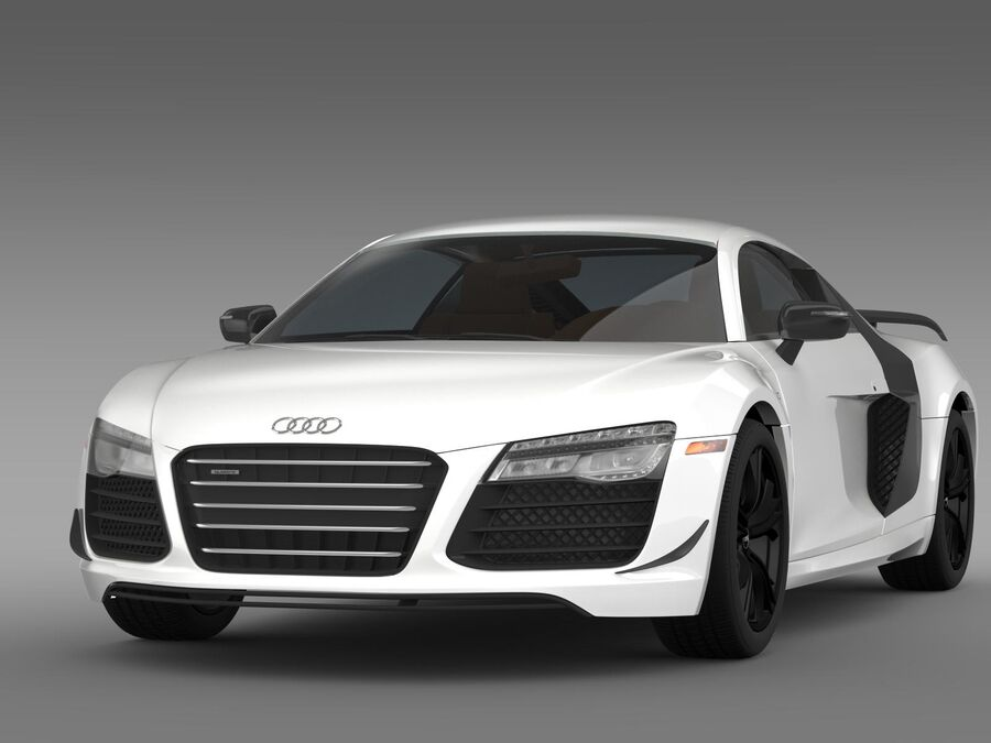 Concorso Audi R8 2015 royalty-free 3d model - Preview no. 3