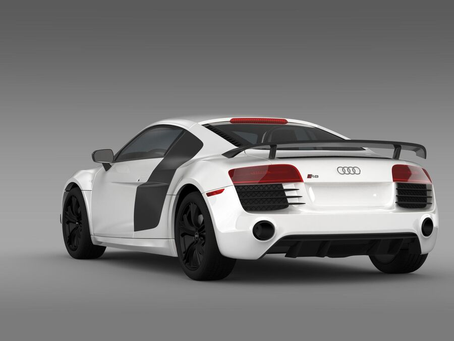 Concorso Audi R8 2015 royalty-free 3d model - Preview no. 8