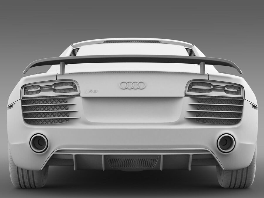 Concorso Audi R8 2015 royalty-free 3d model - Preview no. 14