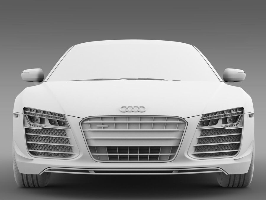 Concorso Audi R8 2015 royalty-free 3d model - Preview no. 13