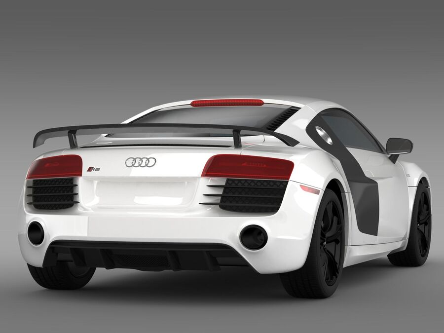 Concorso Audi R8 2015 royalty-free 3d model - Preview no. 9