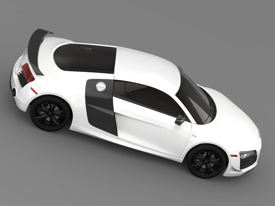 Concorso Audi R8 2015 royalty-free 3d model - Preview no. 11