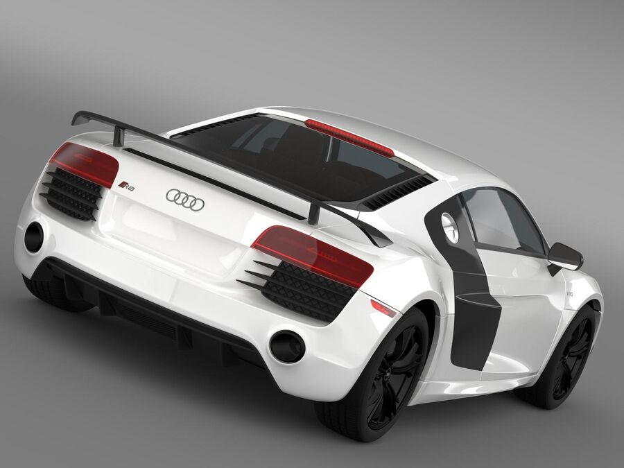 Concorso Audi R8 2015 royalty-free 3d model - Preview no. 2