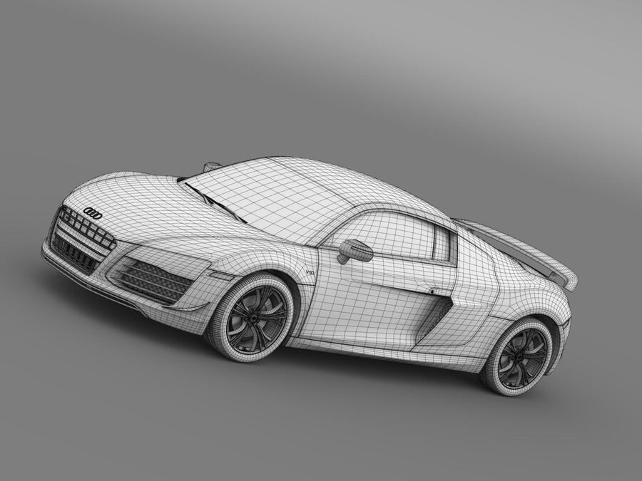 Concorso Audi R8 2015 royalty-free 3d model - Preview no. 17