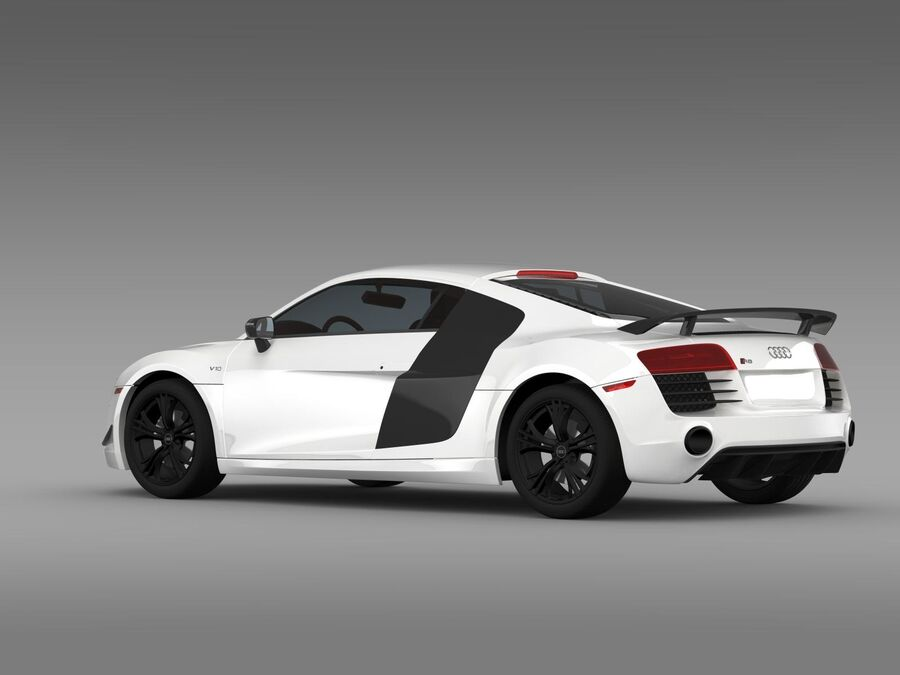 Concorso Audi R8 2015 royalty-free 3d model - Preview no. 7