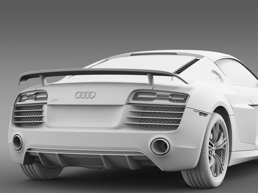 Concorso Audi R8 2015 royalty-free 3d model - Preview no. 16