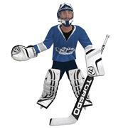 Hockey Goalie LOD1 Rigged 3d model