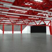 Hangar - Nacht 3d model