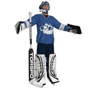 Hockey Goalie LOD3 3d model