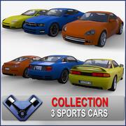 Generic Sport Car Pack 01 3d model