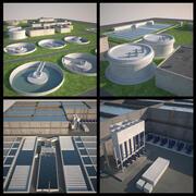 Plantas de tratamiento de agua y aguas residuales (3ds Max 2013) modelo 3d