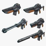Set fucili fantascientifici 01 3d model