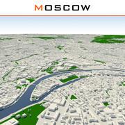 Ville de Moscou terminée 3d model