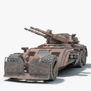 Futuristic Fighting Vehicle 3d model